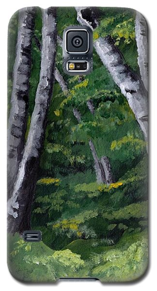 Galaxy S5 Case featuring the painting Birches by Jesslyn Fraser
