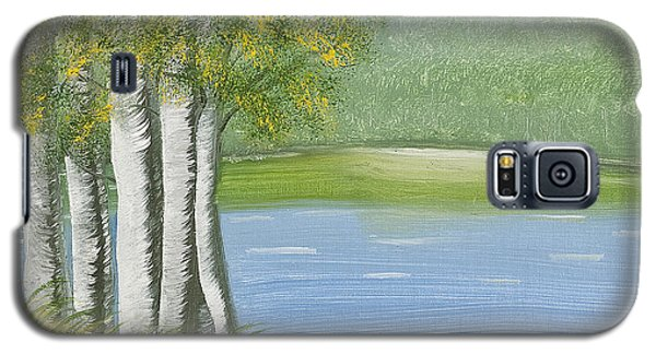 Birches By The Lake Galaxy S5 Case