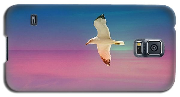 Galaxy S5 Case featuring the photograph Bird At Sunset by Athala Carole Bruckner