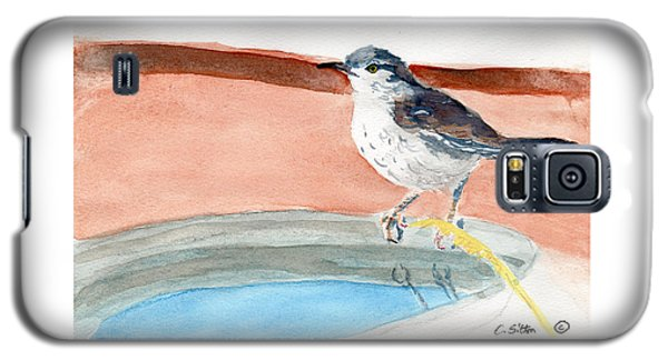 Galaxy S5 Case featuring the painting Bird Bath by C Sitton