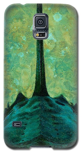 Galaxy S5 Case featuring the painting Bird Dog by Pam Talley