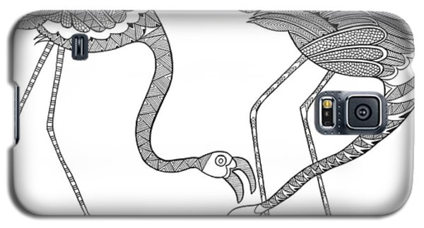 Bird Flamingos 2 Galaxy S5 Case by Neeti Goswami