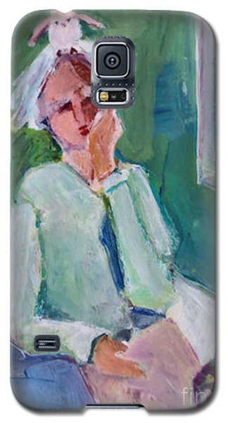 Galaxy S5 Case featuring the painting Bird Girl 2 by Diane Ursin