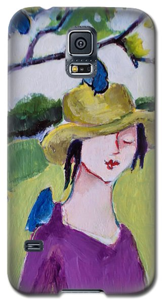 Galaxy S5 Case featuring the painting Bird Girl 3 by Diane Ursin