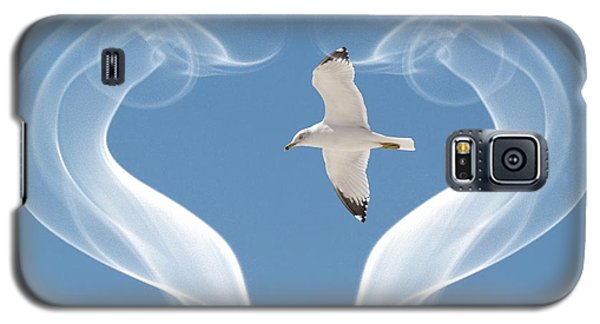 Galaxy S5 Case featuring the photograph Bird In Flight by Athala Carole Bruckner