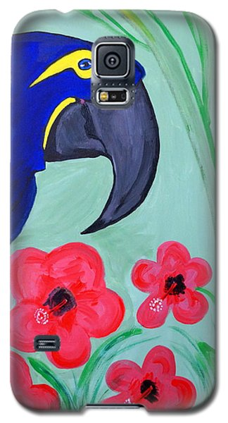 Galaxy S5 Case featuring the painting Bird In Paradise   by Nora Shepley