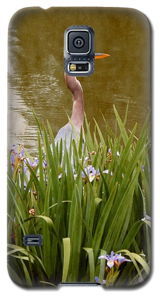 Galaxy S5 Case featuring the photograph Bird In The Water by Milena Ilieva