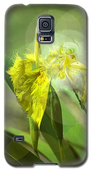 Galaxy S5 Case featuring the photograph Bird Of Iris by Adria Trail