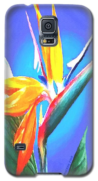 Galaxy S5 Case featuring the painting Bird Of Paradise Flower by Sophia Schmierer