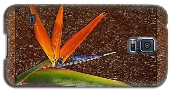 Bird Of Paradise Gold Leaf Galaxy S5 Case
