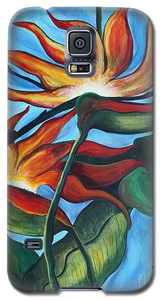 Galaxy S5 Case featuring the painting Bird Of Paradise by Jolanta Anna Karolska