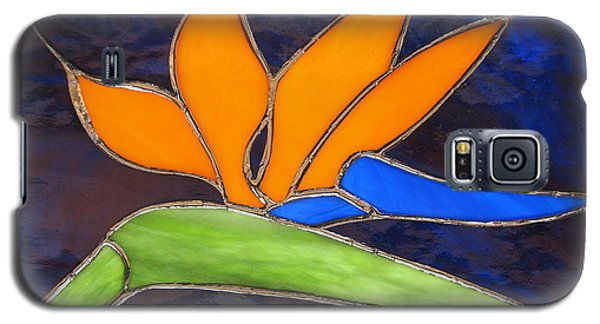 Galaxy S5 Case featuring the glass art Bird Of Paridise by Karin Thue