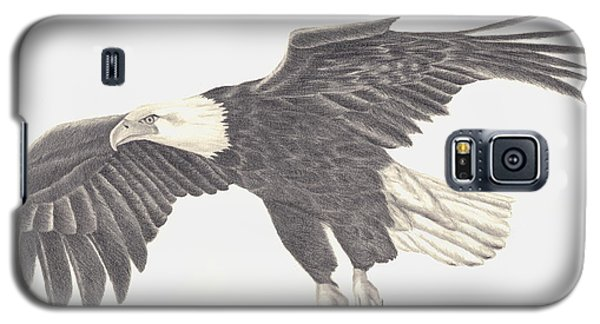 Galaxy S5 Case featuring the drawing Bird Of Prey by Patricia Hiltz