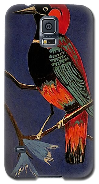 Galaxy S5 Case featuring the painting Bird On A Branch by Kathleen Sartoris