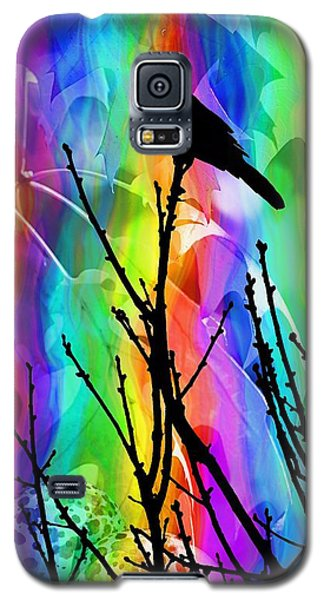 Galaxy S5 Case featuring the photograph Bird On A Stick by Elizabeth Budd