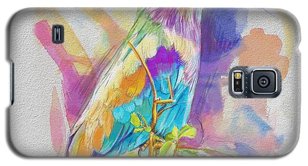 Parakeet Galaxy S5 Case - Bird On A Twig by Catf