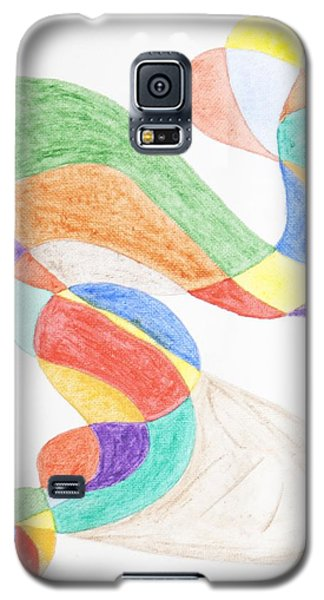 Galaxy S5 Case featuring the painting Bird Snake by Stormm Bradshaw