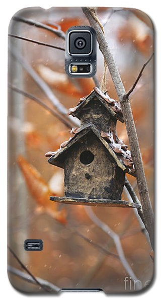 Birdhouse Hanging On Branch With Leaves Galaxy S5 Case