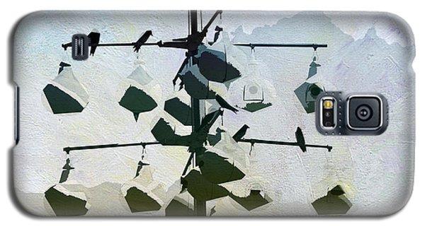Galaxy S5 Case featuring the digital art Birdie Sanctuary by Davina Washington
