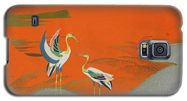 Birds At Sunset On The Lake Galaxy S5 Case by Kamisaka Sekka