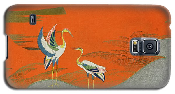 Birds At Sunset On The Lake Galaxy S5 Case
