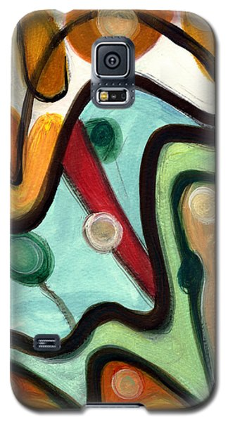 Galaxy S5 Case featuring the painting Birds In Flight by Stephen Lucas