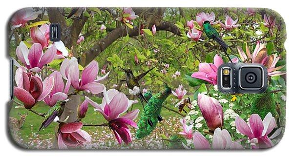 Magnolia Galaxy S5 Case - Birds In Magnolias16x20 by Moni Norng