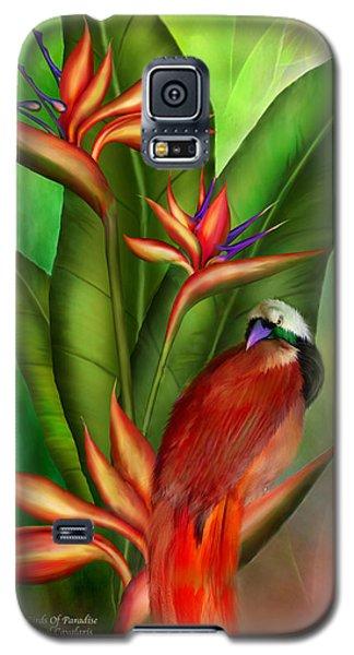 Birds Of Paradise Galaxy S5 Case by Carol Cavalaris
