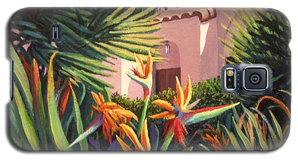 Galaxy S5 Case featuring the painting Birds Of Paradise Garden by Cheryl Del Toro