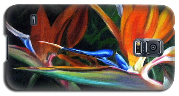 Galaxy S5 Case featuring the painting Birds Of Paradise by LaVonne Hand