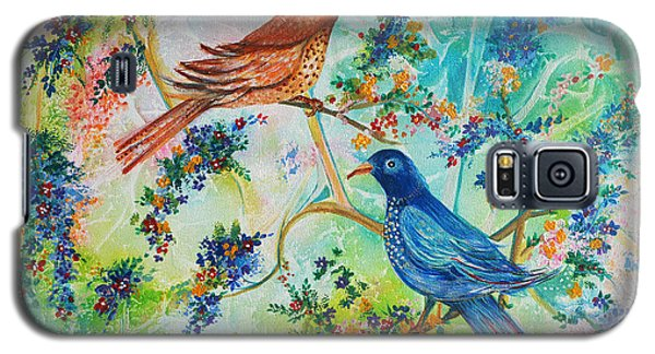 Galaxy S5 Case featuring the painting Birds Of Spring by Yolanda Rodriguez