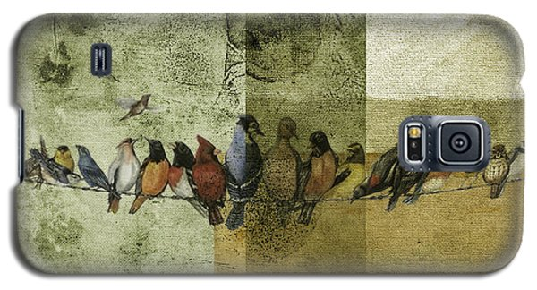 Galaxy S5 Case featuring the digital art Birds On A Wire by Melissa Messick