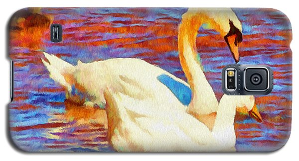 Birds On The Lake Galaxy S5 Case