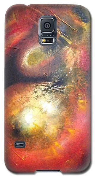 Galaxy S5 Case featuring the painting Birth Of A Planet by Riana Van Staden