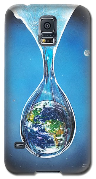Galaxy S5 Case featuring the painting Birth Of Earth by Mary Scott