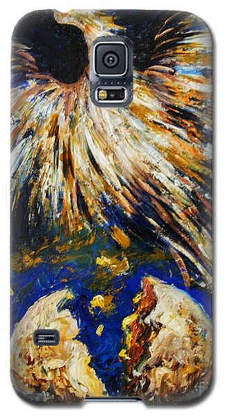 Galaxy S5 Case featuring the painting Birth Of The Phoenix by Karen  Ferrand Carroll