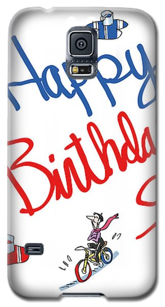 Birthday Bicycle Painter Galaxy S5 Case