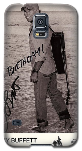 Parrot Galaxy S5 Case - Birthday Wishes From Jimmy Buffett by Desiderata Gallery