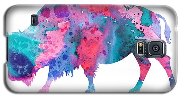 Bison Galaxy S5 Case - Bison 2 by Watercolor Girl