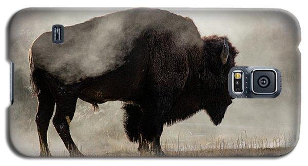 Bison In Mist, Upper Geyser Basin Galaxy S5 Case