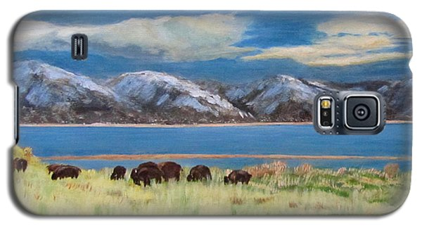 Bison On Antelope Island Galaxy S5 Case