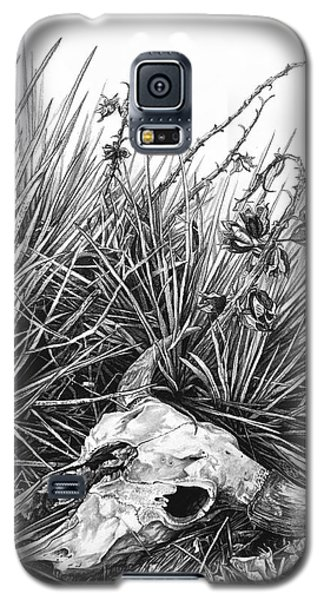 Galaxy S5 Case featuring the painting Bison Skull by Aaron Spong