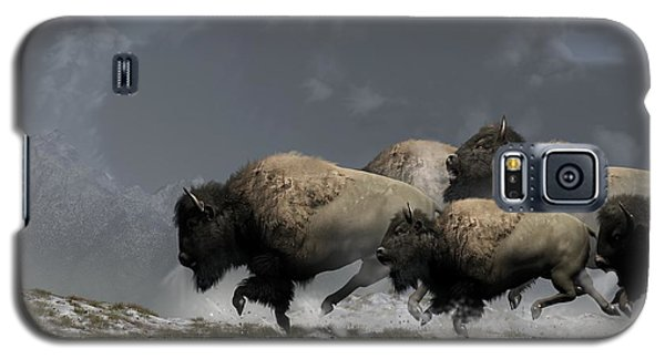 Bison Stampede Galaxy S5 Case by Daniel Eskridge
