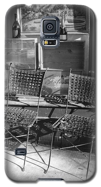 Bistro Chairs In Black And White Galaxy S5 Case by Margie Avellino