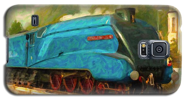Galaxy S5 Case featuring the digital art Bittern Locomotive by Chuck Mountain
