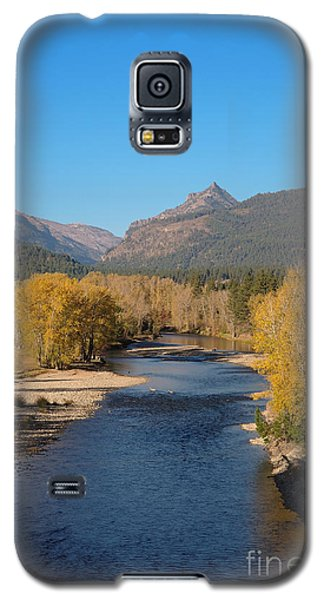 Galaxy S5 Case featuring the photograph Bitterroot River Fall by Joseph J Stevens