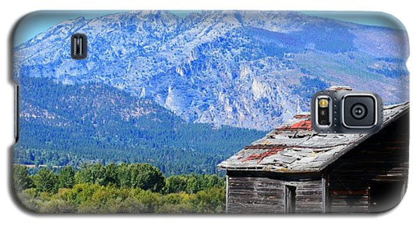 Galaxy S5 Case featuring the photograph Bitterroot Valley Cabin by Joseph J Stevens