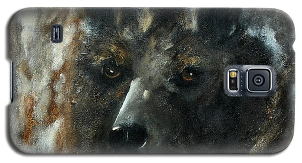 Galaxy S5 Case featuring the painting Bjomolf - Bear Wolf by Barbie Batson