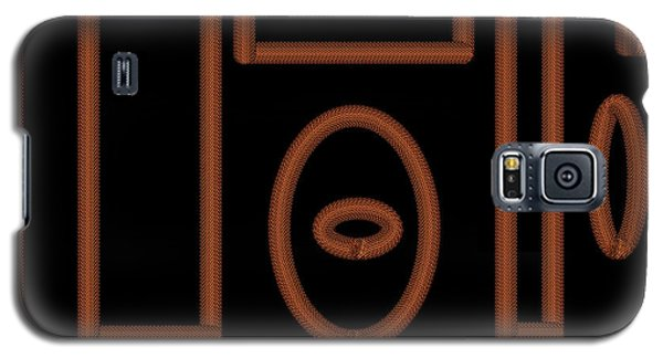 Black And Gold Chain Design Galaxy S5 Case