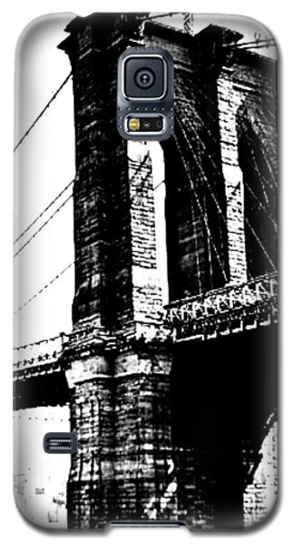 Black And White Abstract City Photography...brooklyn Bridge Galaxy S5 Case by Amy Giacomelli